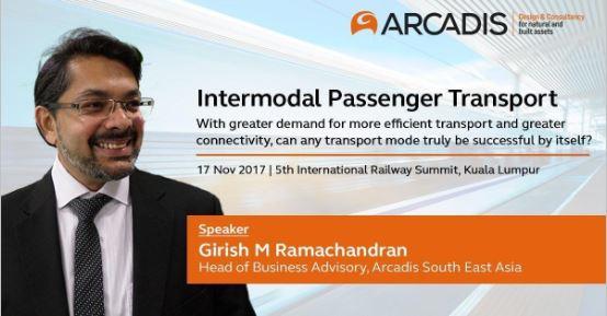 Girish Ramachandran will be leading a panel discussion on Intermodal Passenger Transport